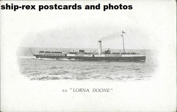 LORNA DOONE (1891, Red Funnel) postcard (a)